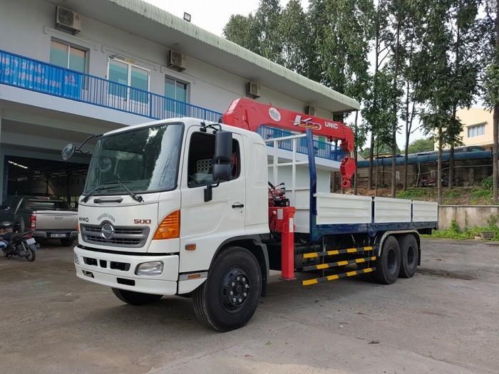 Xe tải Hino FL 15 tấn gắn cẩu Unic 3 tấn 1