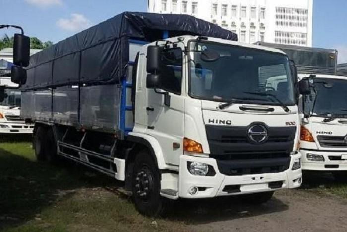Xe tải Hino 16 tấn thùng mui bạt, trả trước 150 triệu giao xe ngay 5