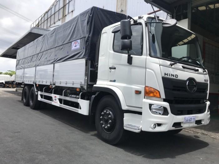 Xe tải Hino 16 tấn thùng mui bạt, trả trước 150 triệu giao xe ngay 4