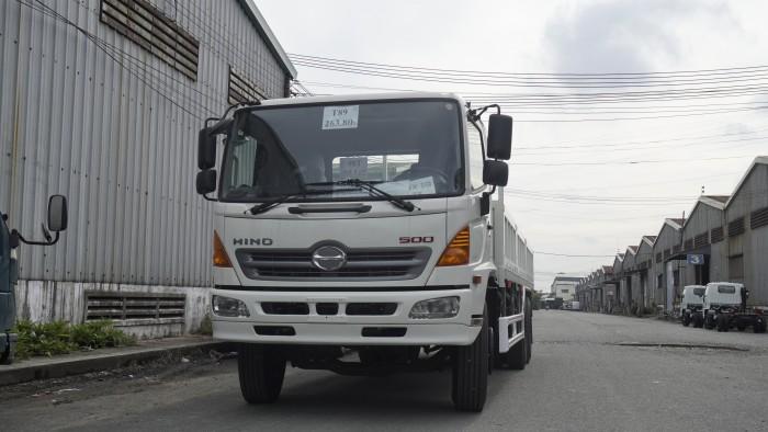 Xe tải Hino 16 tấn thùng lửng 7m6, trả trước 150 triệu có xe giao ngay 6