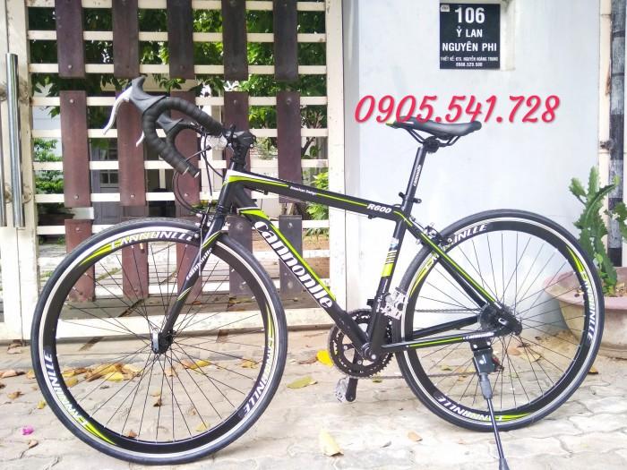 Xe đạp đua khung nhôm màu đen - hàng mới về