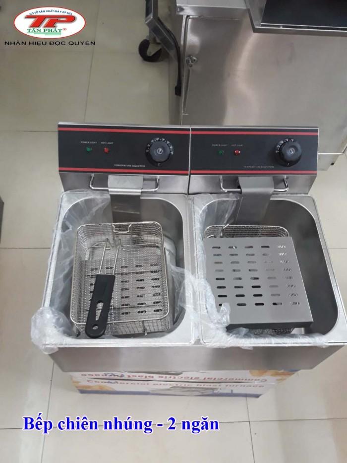 Bếp chiên nhúng điện, loại 2 ngăn3