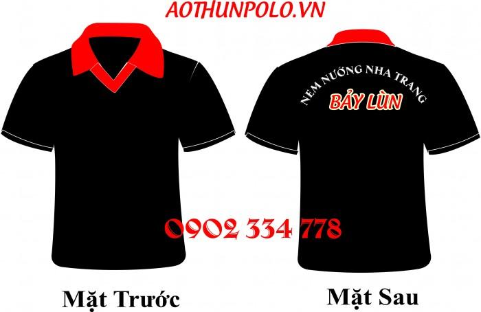 cung cấp áo thun đồng phục cá sấu màu đen giá rẽ