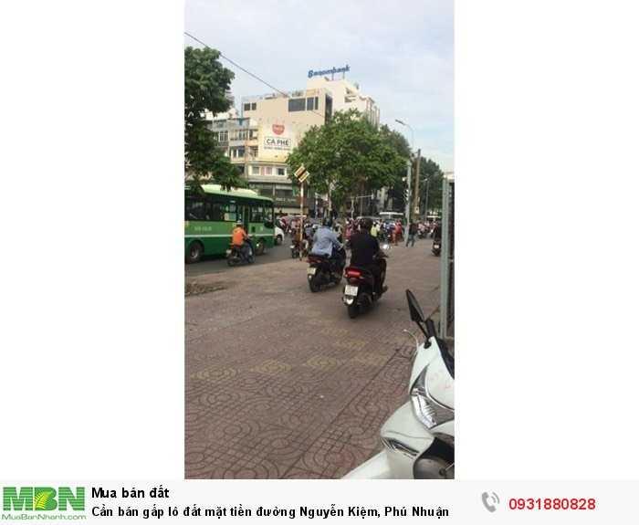 Cần bán gấp lô đất mặt tiền đường Nguyễn Kiệm, Phú Nhuận