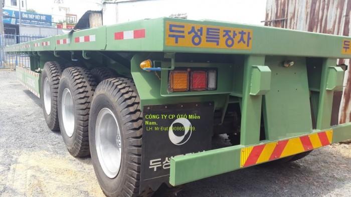 Đại lý Sàn phẳng tải(chở container), 3 trục,20 feet, 32 tấn, giá gốc, xe có sẵn, giao ngay.