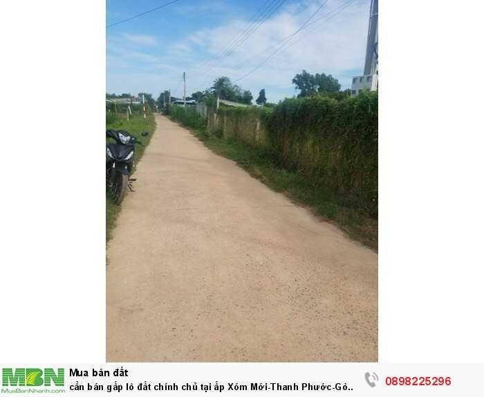 cần bán gấp lô đất chính chủ tại ấp Xóm Mới-Thanh Phước-Gò Dầu-Tây Ninh