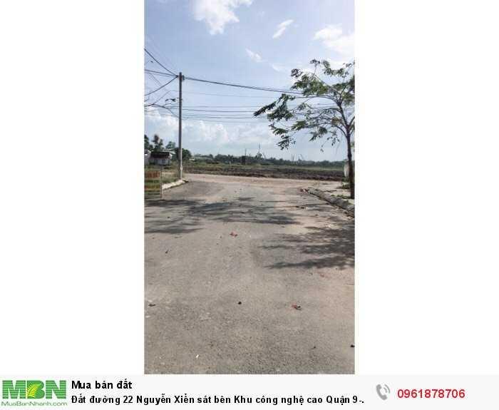 Đất đường 22 Nguyễn Xiển sát bên Khu công nghệ cao Quận 9- Vincity