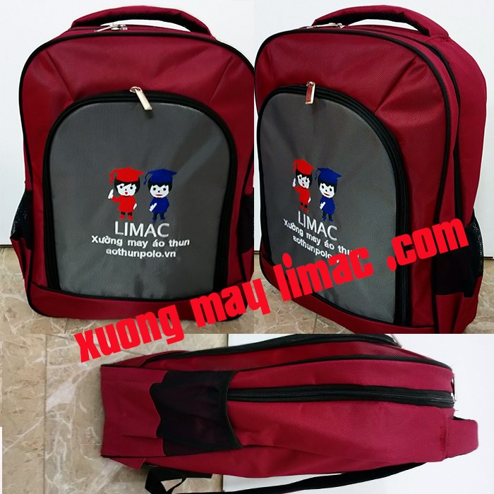 Cở sở may balo túi xách limac nhận may balo quảng cáo, may balo giá rẻ nhất TPHCM.