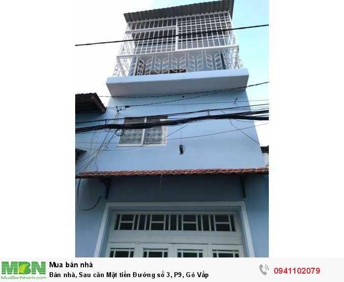 Bán nhà, Sau căn Mặt tiền Đường số 3, P9, Gò Vấp