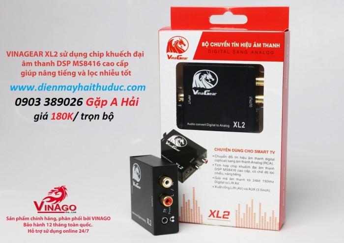 Bộ chuyển đổi âm thanh digital ra Audio Vinagear XL2 chính hãng Việt nam sản xuất