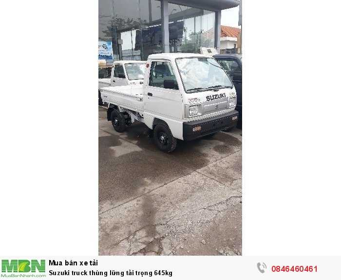 Suzuki truck thùng lững tải trọng 645kg 0