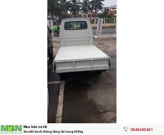 Suzuki truck thùng lững tải trọng 645kg 2