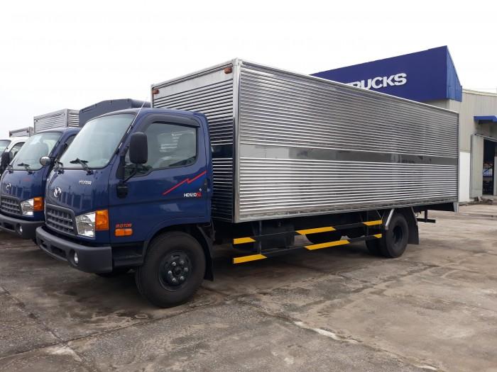 Xe nâng tải Hyundai HD120SL tải 8 tấn thùng dài 6m3, hỗ trợ ngân hàng đến 80%