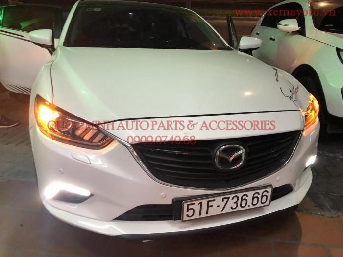 Độ đèn pha cho Mazda 6 2015 mẫu Mustang cho tết đẹp thêm vui