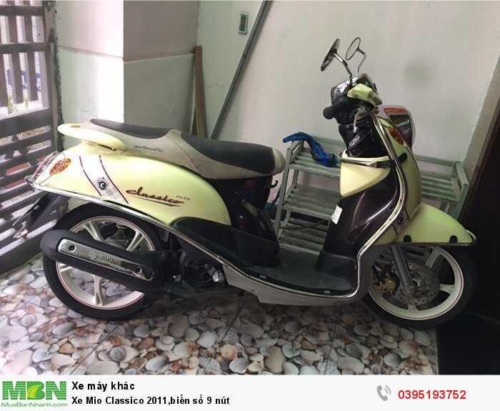 Xe Mio Classico 2011,biển số 9 nút