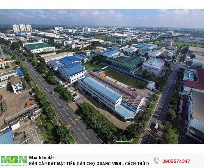 Bán Gấp Đất Mặt Tiền Gần Chợ Quang Vinh - Cách Thủ Dầu Một 6km