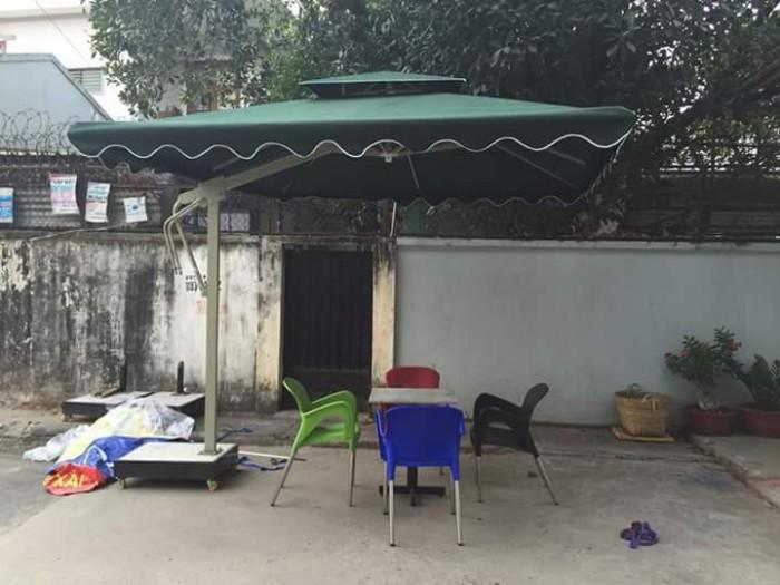 Dù cafe lệch tâm vuông giá rẻ Việt Đức VD0237