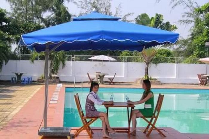 Dù cafe lệch tâm vuông giá rẻ Việt Đức VD0236