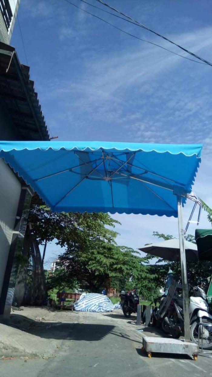 Dù cafe lệch tâm vuông giá rẻ Việt Đức VD0231