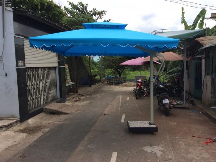 Dù cafe lệch tâm vuông giá rẻ Việt Đức VD0234
