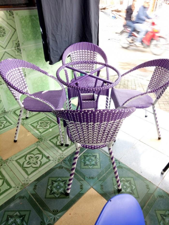 Bộ bàn ghế cafe giả mây đẹp rẻ Việt Đức VD0131