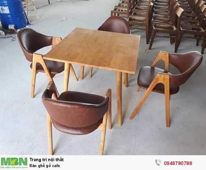 Bàn ghế gổ cafe