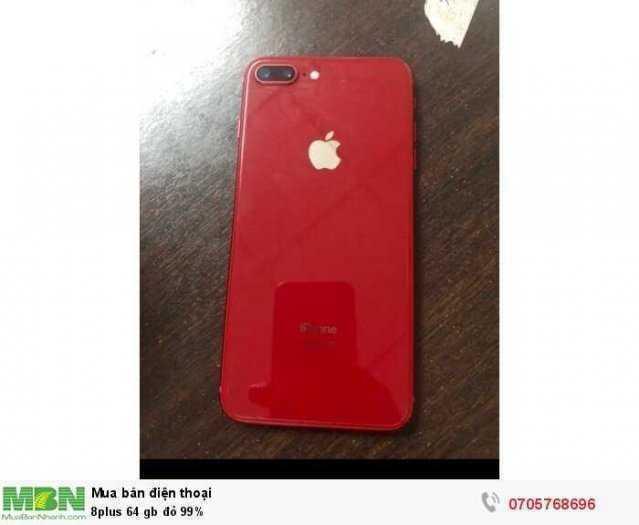 Điện thoại iphone 8plus 64 gb đỏ 99%1