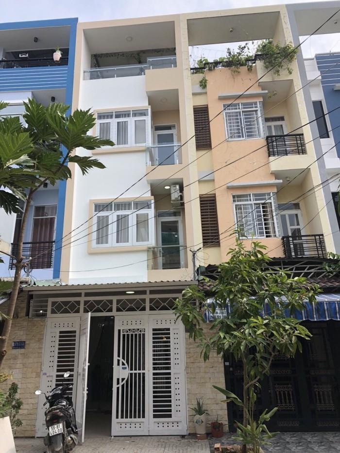 Bán Nhà hẻm 1979 Huỳnh Tấn Phát, Thị trấn Nhà Bè, DT 4m x 16m, 3 lầu, sân thượng, tặng nội thất