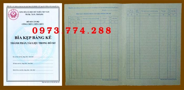 Bìa kẹp hồ sơ, cán bộ, công chức, viên chức, các loại mẫu ......