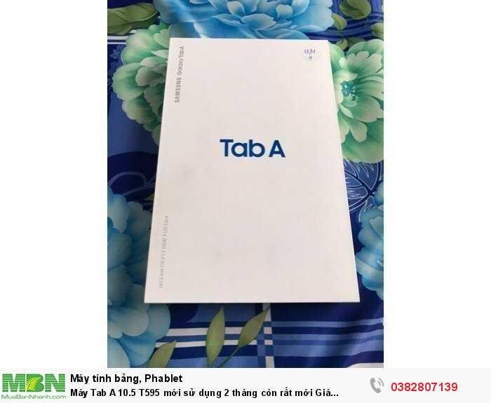 Máy Tab A 10.5 T595 mới sử dụng 2 tháng còn rất mới0