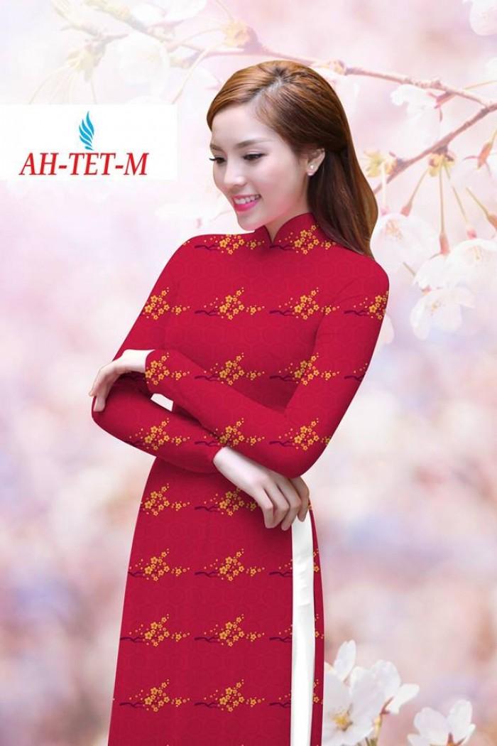 Vải áo dài đẹp in 3D AH TET7