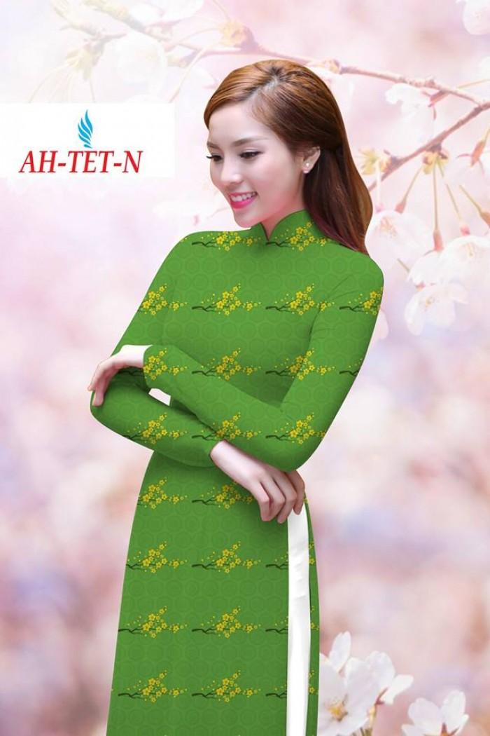 Vải áo dài đẹp in 3D AH TET6