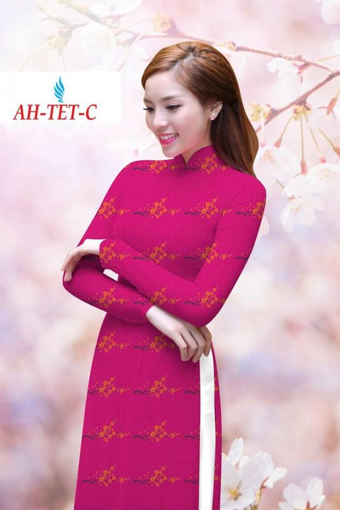 Vải áo dài đẹp in 3D AH TET4