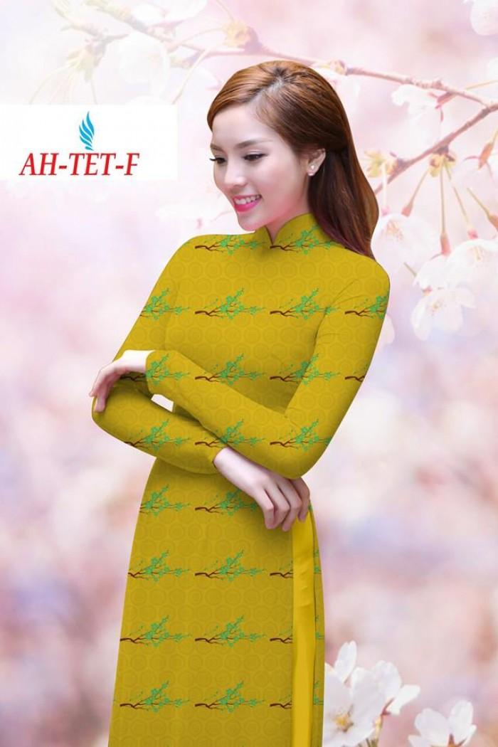 Vải áo dài đẹp in 3D AH TET9
