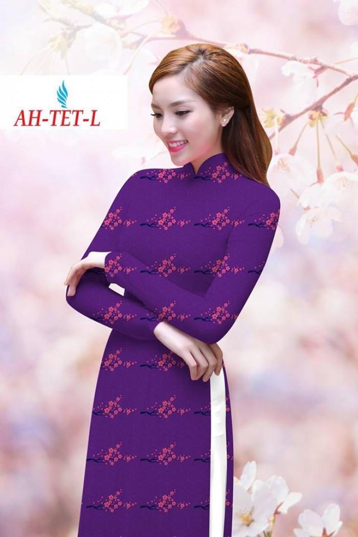 Vải áo dài đẹp in 3D AH TET1