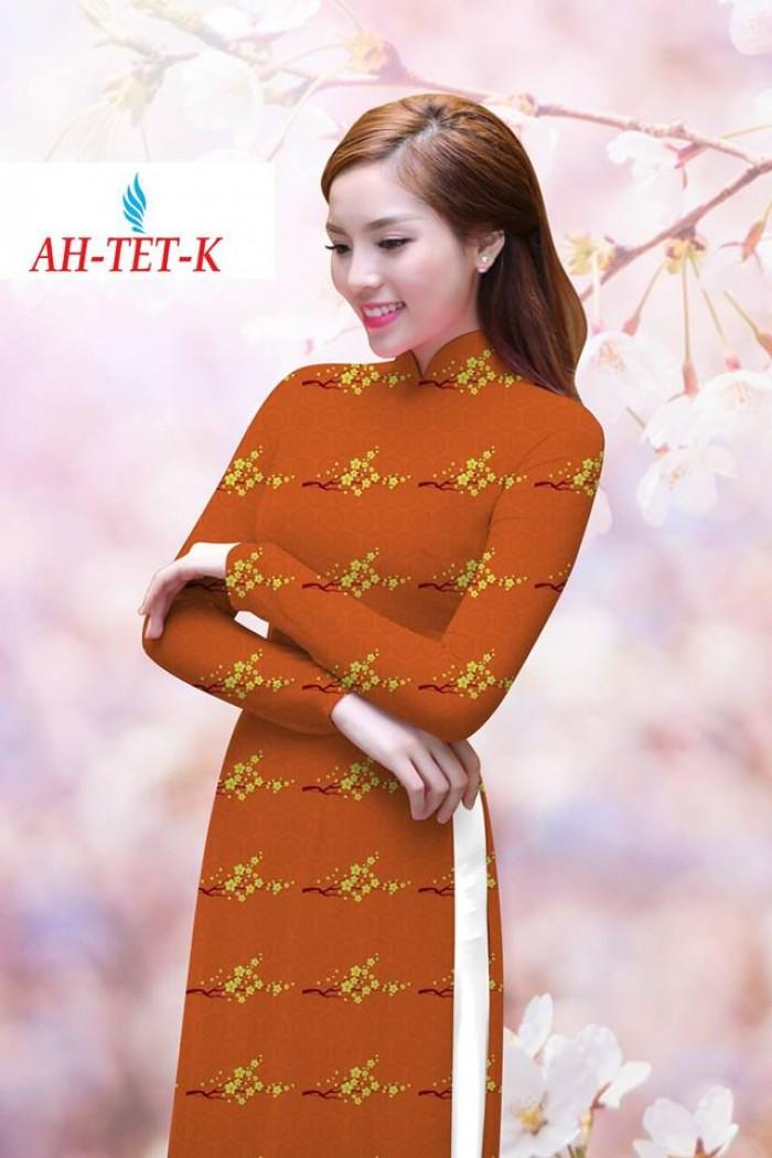 Vải áo dài đẹp in 3D AH TET0