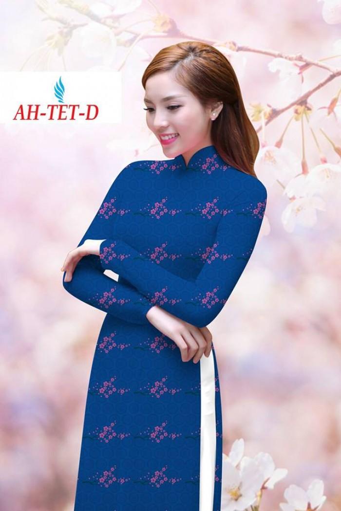 Vải áo dài đẹp in 3D AH TET8