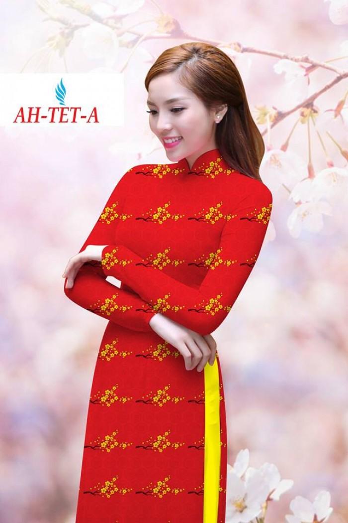 Vải áo dài đẹp in 3D AH TET5