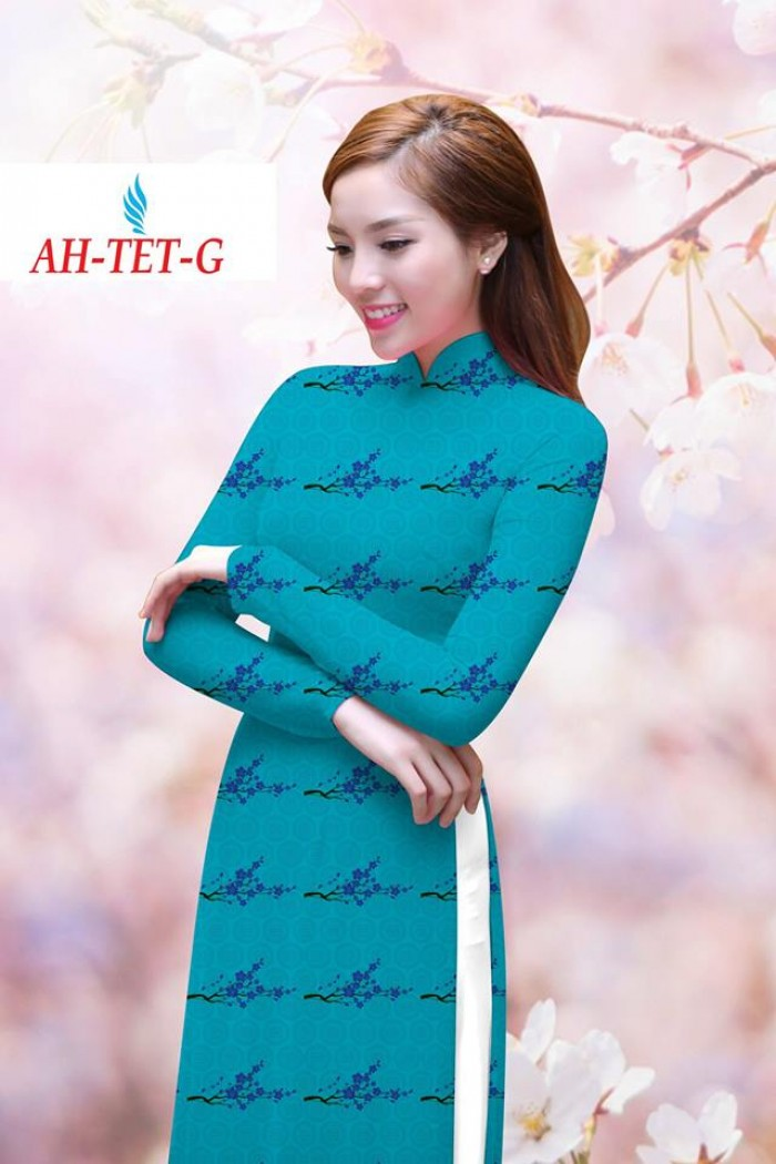 Vải áo dài đẹp in 3D AH TET3