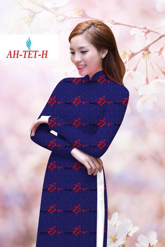 Vải áo dài đẹp in 3D AH TET2