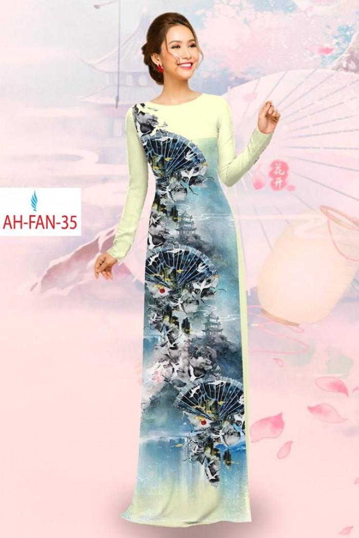 Vải áo dài đẹp in 3D AH FAN15
