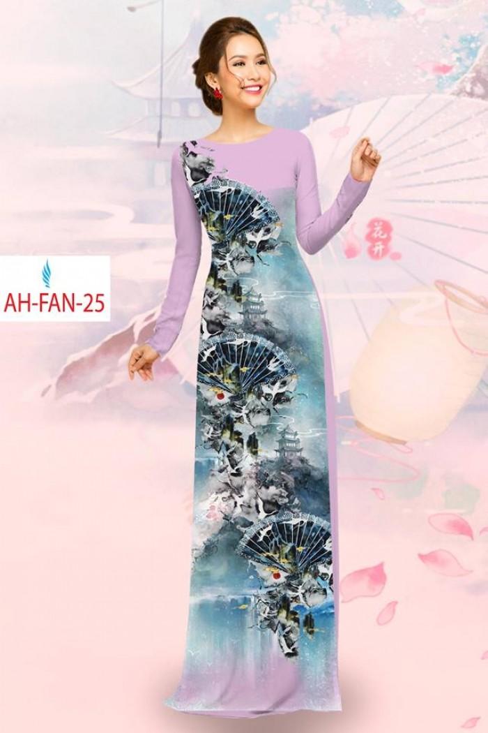 Vải áo dài đẹp in 3D AH FAN14