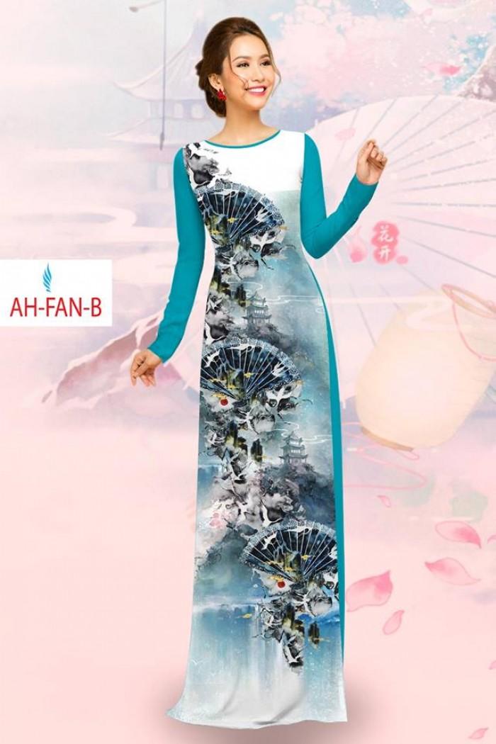Vải áo dài đẹp in 3D AH FAN13