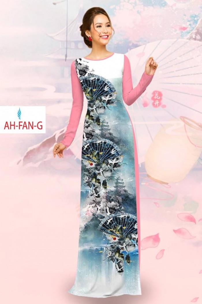 Vải áo dài đẹp in 3D AH FAN12