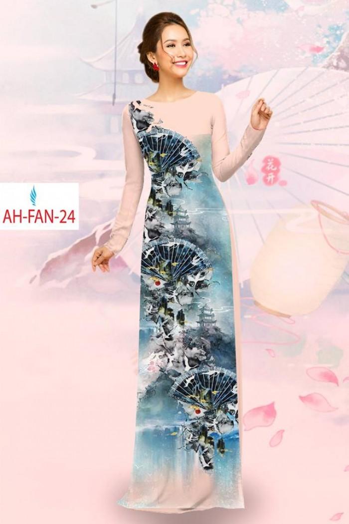 Vải áo dài đẹp in 3D AH FAN7