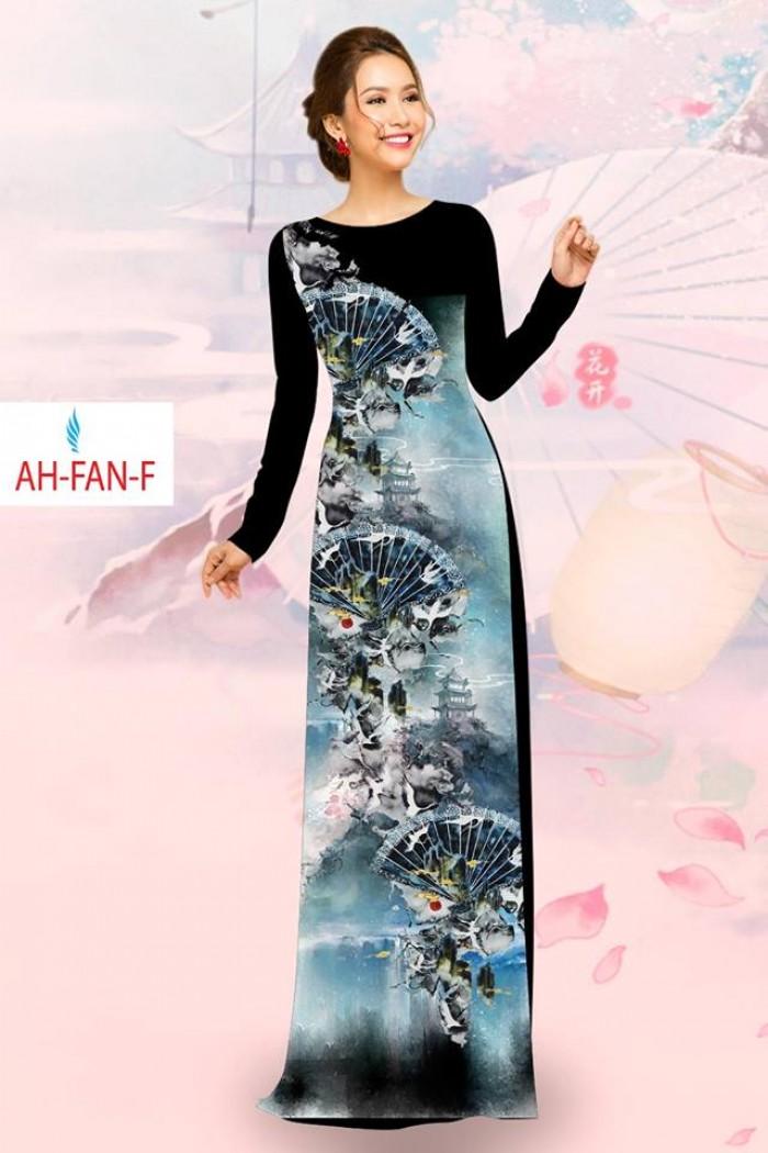 Vải áo dài đẹp in 3D AH FAN3