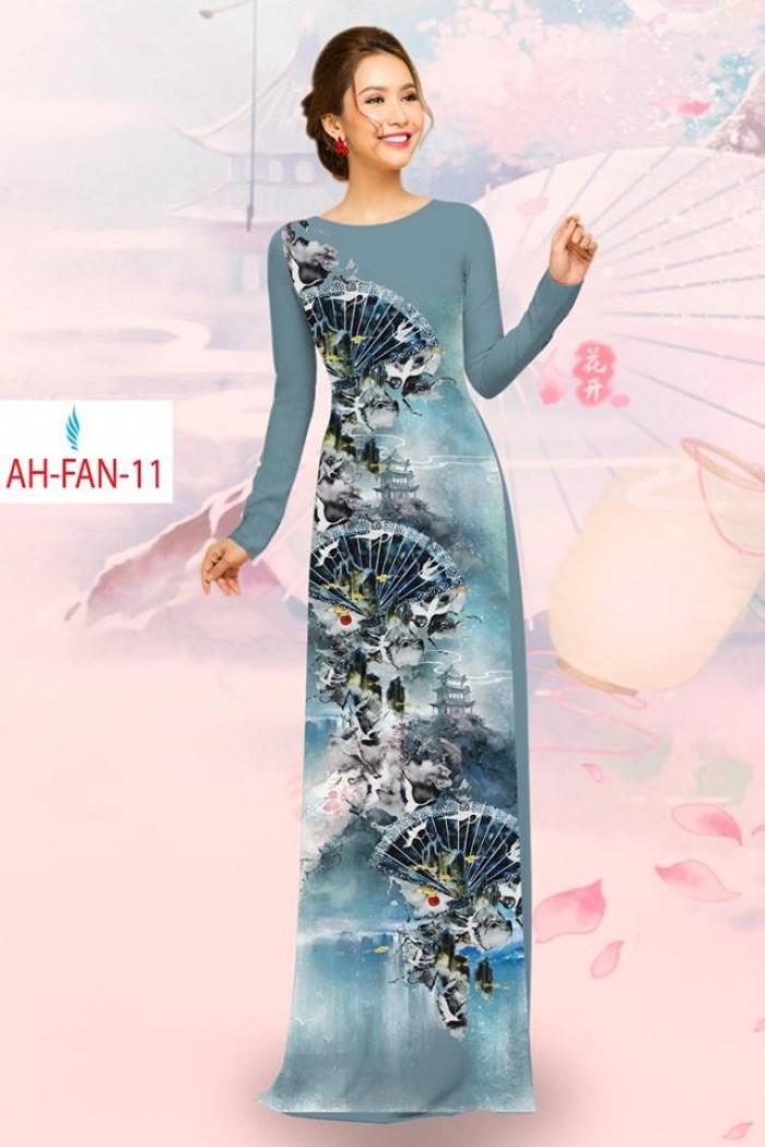 Vải áo dài đẹp in 3D AH FAN9
