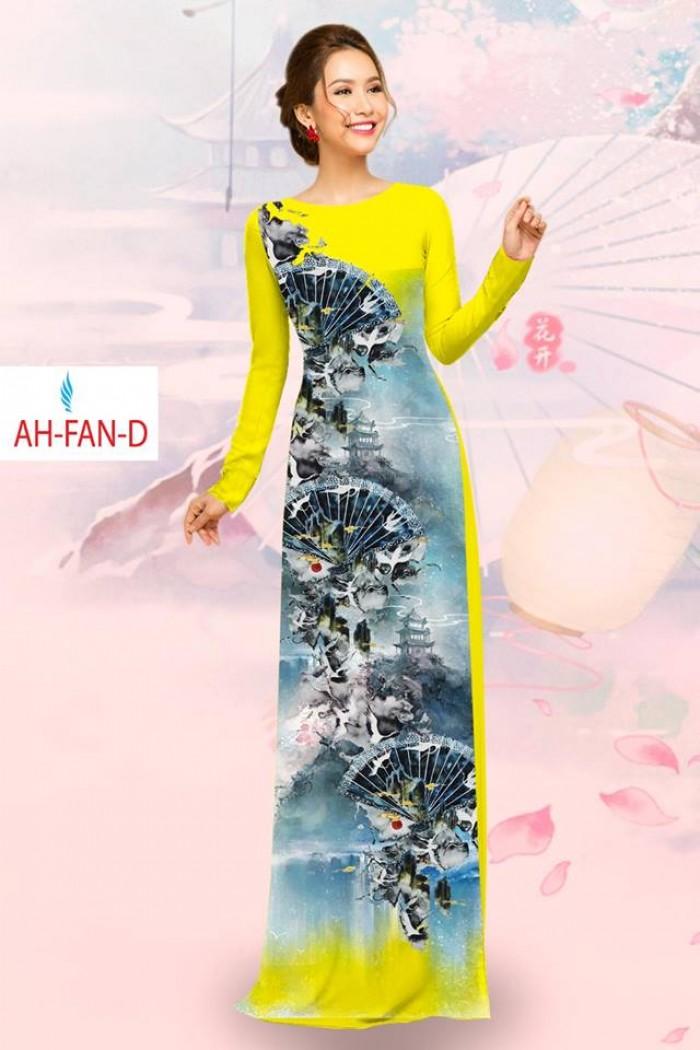 Vải áo dài đẹp in 3D AH FAN10