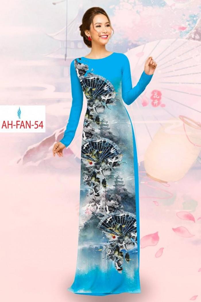 Vải áo dài đẹp in 3D AH FAN2