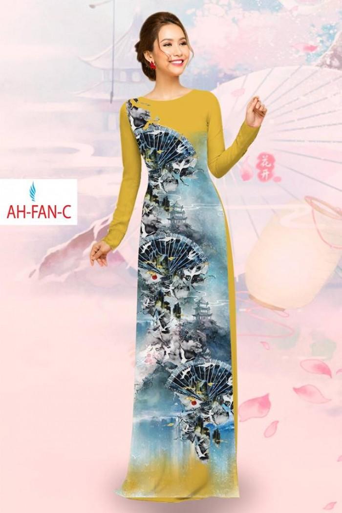 Vải áo dài đẹp in 3D AH FAN4